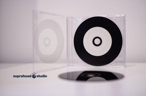 CD gravé vinyl boitier Crystal Suprahead Studio